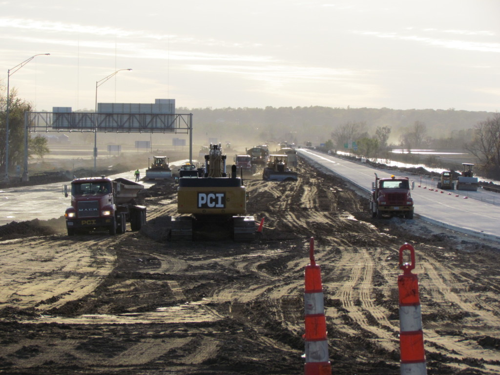 Photo taken at the I-680 rebuilding project in Pottawattamie County, Iowa in 2011.